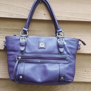 Purple GIANNI BERNINI genuine leather purse